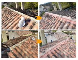 rénovation de faîtage de toiture